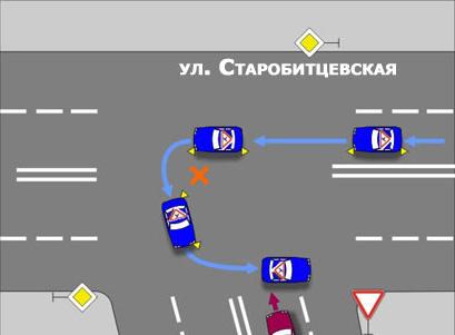При обучении вождению и